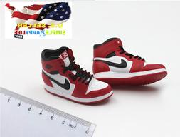 1/6 men white red sneakers shoes HOLLOW basketball for hot t