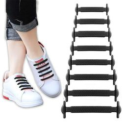 16pcs Lazy Elastic Silicone Shoelaces No Tie Running Sneaker