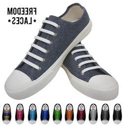 16Pcs No Tie Elastic Silicone Shoe Laces Waterproof Shoelace