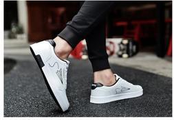 2019 Men Shoes Spring Autumn Casual PU Leather Flat Shoes La