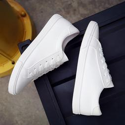 2019 new spring lace-up <font><b>white</b></font> shoes woma