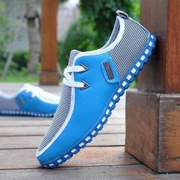 2021 Fashion New Men's Flats Casual Mesh Sneakers Breathable