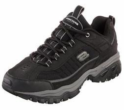 Skechers EW Wide Width Black shoes Men's Sport Casual Soft L