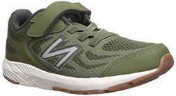New Balance Boys' 519v1 Hook and Loop Running Shoe, Dark Cov
