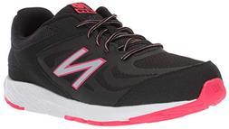 New Balance Girls' 519v1 Running Shoe, Black/Rainbow, 12.5 W