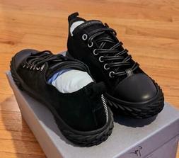 "$550 Mens Giuseppe Zanotti ""Blabber"" Suede Low-Top Sneakers"