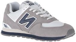 New Balance Men's 574v2 Sneaker, Gunmetal/Navy, 18 2E US