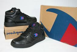 929X05 Champion 10125M Men's 3 On 3 leather Sneaker 8.5 Blac