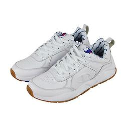 Champion 93 Eighteen Mens White Leather Low Top Lace Up Snea