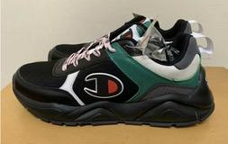 Champion 93Eighteen Block Sneaker Shoes: Black/Green Multi-