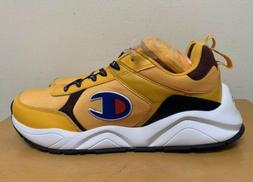 Champion 93Eighteen Block Sneaker Shoes: Gold/Burgundy/Navy-