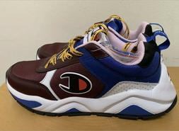 Champion 93Eighteen Block Sneaker Shoes: Maroon Multi- Mens