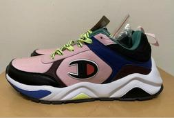Champion 93Eighteen Block Sneaker Shoes: Pink/Multi- Mens 10