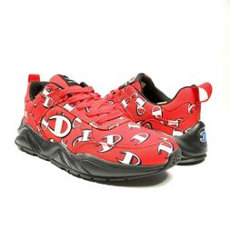 Champion 93Eighteen Repeat C LOGO Mens Shoes Sneakers Red Bl