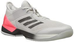 adidas Women's Adizero Ubersonic 3 Tennis Shoe, Grey/Black/W