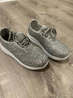 Adult Glitter Sneakers - So Sparkly and Comfy Silver - Size