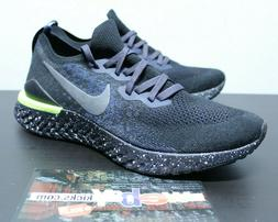 Nike Air Epic React Flyknit 2 Black Green Sneakers Mens Size