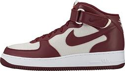 NIKE Men's Air Force 1 Mid Basketball Shoe Team Red/Team Red
