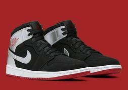 "Nike Air Jordan 1 Mid ""Johnny Kilroy"" Shoe Black Red Silver"
