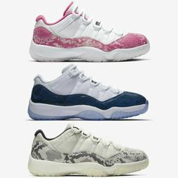 Nike Air Jordan 11 Retro Low XI Navy Pink Light Bone Snakesk