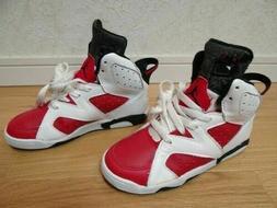 NIKE AIR JORDAN VI Red White Black Vintage Sneakers for Kids