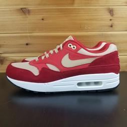 Nike Air Max 1 Red Curry Premium Retro Men's Sneakers Size 9