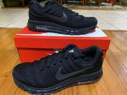 Nike Air Max 2017 Men Size 10.5 Triple Black Running Trainin