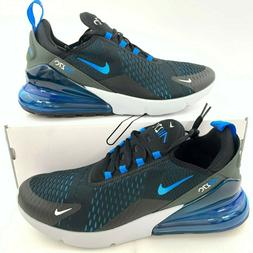 Nike Air Max 270 Men's Black Photo Blue Fury AH8050 019 New