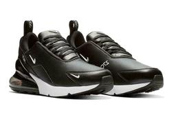 Nike Air Max 270 PRM LEA Leather Black White Men Running Sho