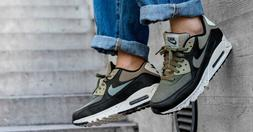 Nike Air Max 90 Premium Sneakers Dark Olive Green 700155-203