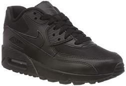 Nike Womens Air Max 90 Running Sneakers Black/Black-Black 32