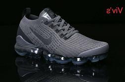 Nike Air VaporMax Flyknit 3 Men's Gray Running Shoes Comfort