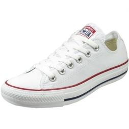 CONVERSE All Star White Canvas Unisex s 7/9 Athletic Sneaker