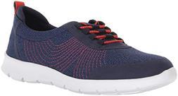 Clarks Women's Step AllenaBay Sneaker, Navy mesh, 7 M US