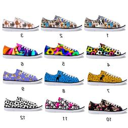 Animal Low Top Canvas Shoes For Women's Fashion Casual Pug C