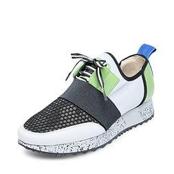 Steve Madden Women's Antics Sneaker, Green/Multi, 7.5 M US
