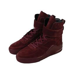 Radii Apex FM1098 Mens Red Suede Casual Lace Up High Top Sne