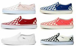 VANS ASHER SLIP ON WOMENS SHOES SNEAKERS CASUAL SKATE STYLE