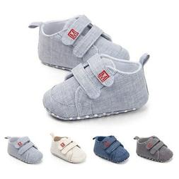 Baby Boy Girl Cotton Shoes Sneakers Toddler Soft Sole Casual