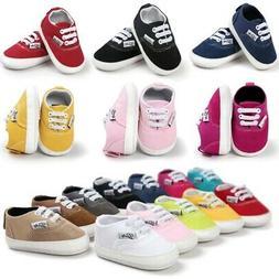 Baby Kids Girl Boy Soft Sole Crib Shoes Toddler Newborn Snea