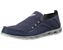 Columbia Men's Bahama Vent PFG Slip On Boat Shoes, Blue Leat