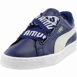 Puma Basket Heart DE Sneakers Casual    - Blue - Womens