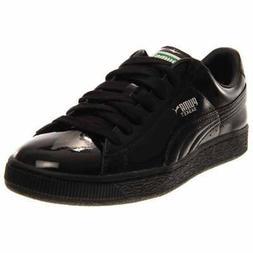 Puma Basket Matte & Shine Sneakers Casual    - Black - Mens