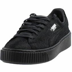 Puma Basket Platform Reset  Casual   Sneakers - Black - Wome