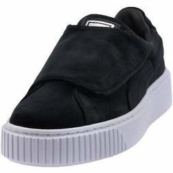 Puma Basket Platform Strap Velvet Rope Platform Sneakers  Ca