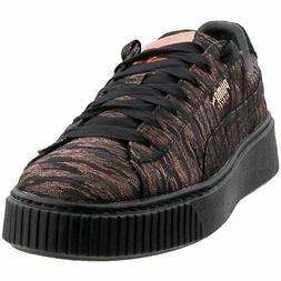Puma Basket Platform Velvet Rope  Casual   Sneakers - Black