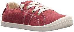 Roxy Women's Bayshore Slip On Shoe Sneaker, Red, 6.5 M US
