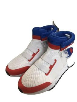 BIG BOY'S CHAMPION RALLY FUTURE HIGH TOP SNEAKERS, WHITE/R