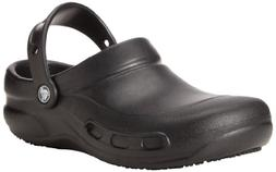 Crocs Unisex Bistro M Work Clog,  Black, 9 US Men's / 11 US