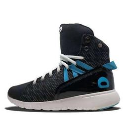 Black/Blue Mission Trainer High Top Sneakers for Bodybuildin